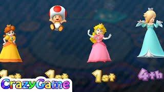 Mario Party 10 Coin Challenge #22 Peach vs Daisy vs Toad vs Rosalina Gameplay (2 Player)