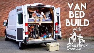 DIY Camper Van Conversion Bed Build, Converts To A Couch! #VANLIFE
