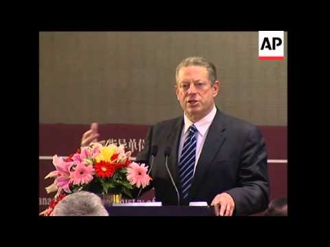Al Gore says China-US cooperation crucial in tackling climate change
