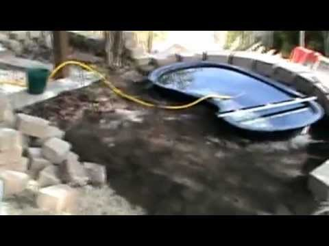 How to install a raised koi pond with water course for How to install a koi pond