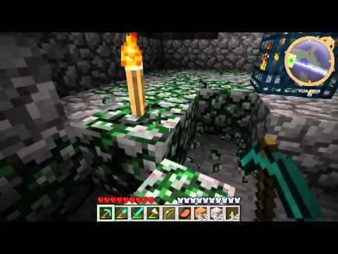 Minecraft - Lets Play Ep. 009 - Zombie dungeon and lava lakes.