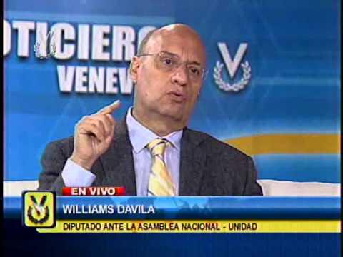 Entrevista Venevisión: Williams Dávila, diputado de la Asamblea Nacional - Unidad