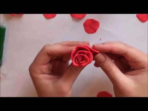 Как сделать из пластилина сделать розу
