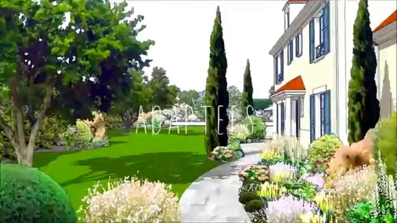 jardin 3d animation paysage project architecte