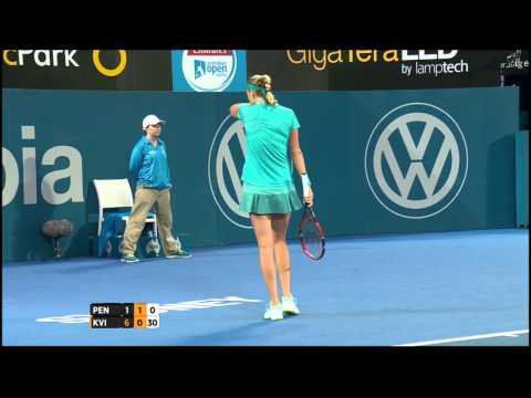Shuai Peng v Petra Kvitova highlights (2R) - Apia International Sydney 2015