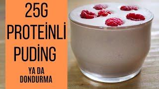 Proteinli puding - Diyet tatlı - 25 gram protein. Sağlıklı atıştırmalık.