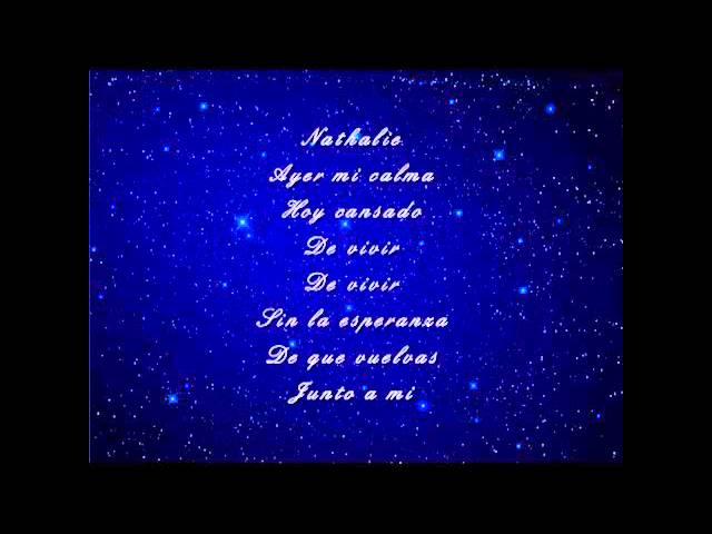 Julio Iglesias - Nathalie with lyrics on screen