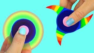 4 DIY Fidget Spinner Ideas: Rainbow, Lips, Star, Eye