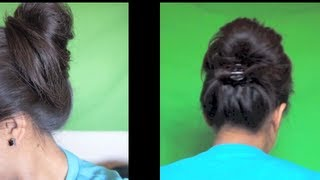 ☆2 Minute Easy Summer Updo - Cute/Messy Bun - No Hairspray or Pins :D