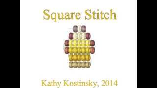 Square stitch. Beading cartoon