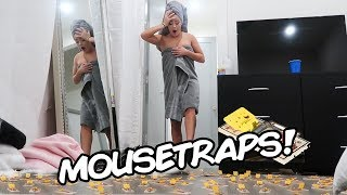HUNDRED MOUSETRAP PRANK ON NAKED ROOMMATE