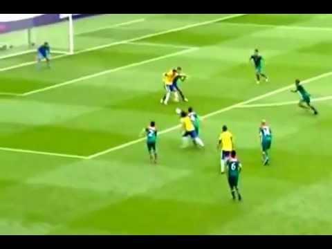 MEXICO 2- 1 BRASIL FINAL EN LONDRSE 2012- ORIBE PERALTA