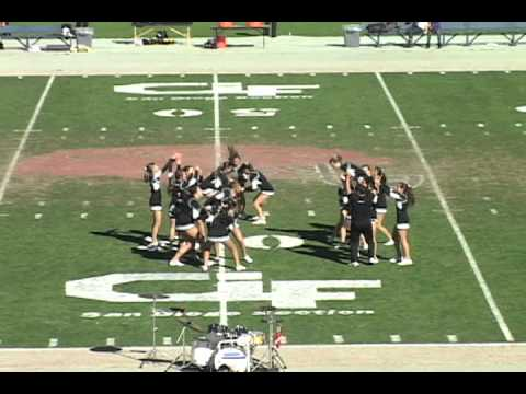 2011 Valley Center High School Cheerleading Performance at the CIF Football Championships