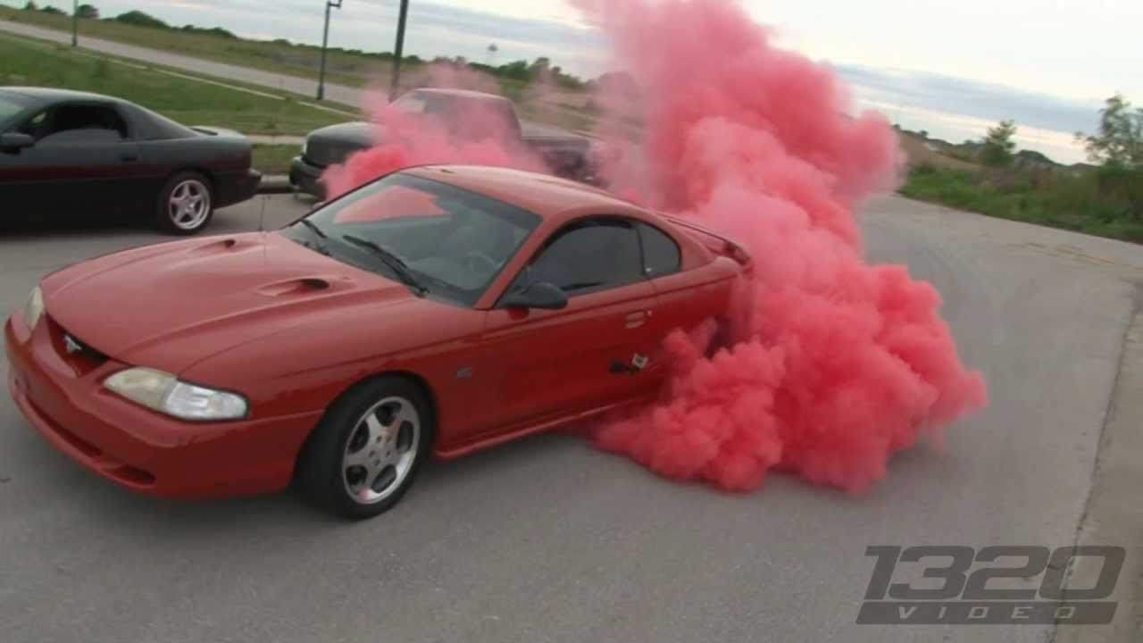 Sn95 Mustang Red Tire Burnout Youtube