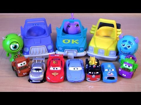 Disney Cars Roll A Scare Ridez Monsters University Toys From Pixar Monsters Inc 2 cartoys