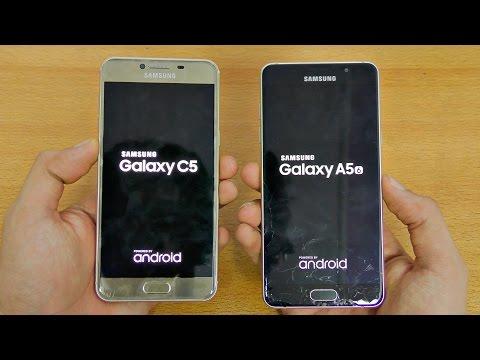 Samsung Galaxy C5 vs A5 (2016) - Speed Test! (4K)