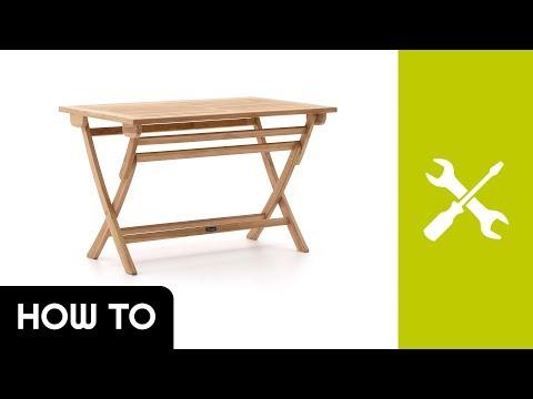 How to: Aufbau Sunyard Preston Klapptisch | Kees Smit Gartenmöbel