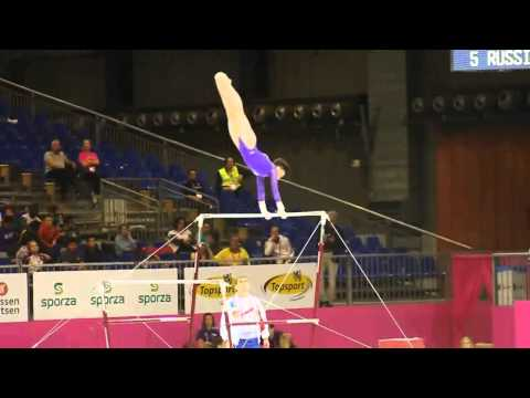 Aliya MUSTAFINA RUS, Bars Senior Qualification, European Gymnastics Championships 2012