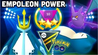 Empoleon lead in Ultra GO Battle League Rank 10 Pokemon GO | Crobat & Snorlax combo