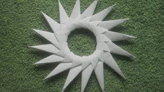 Origami Tutorial: Origami 16 Point Star