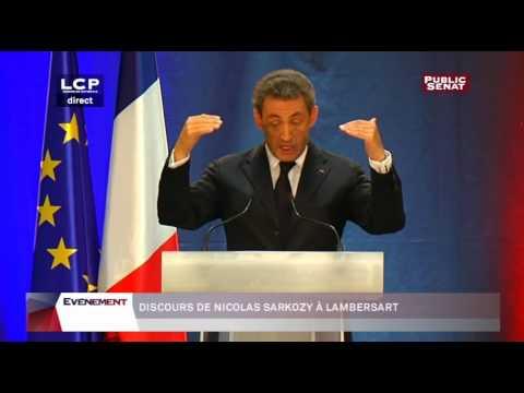 Meeting de Nicolas Sarkozy à Lambesart