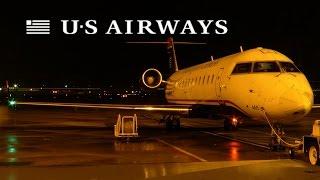 HD Air Wisconsin (US Airways) CRJ-200ER N416AW Takeoff from Philadelphia International Airport