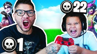MINDOFREZ AND FaZe Kaylen PLAY ON 1 CONTROLLER!! EXTREME FORTNITE CHALLENGE!