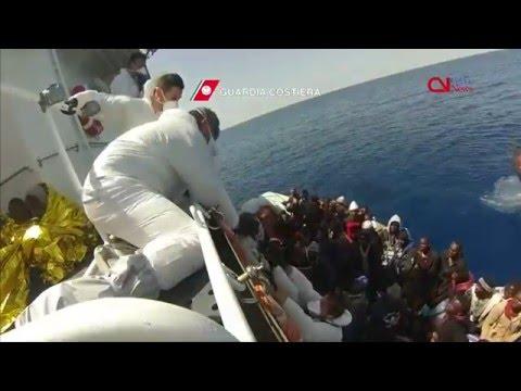 Italian coast guard rescue nearly 400 migrants in the Mediterranean