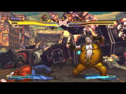 Street Fighter x Tekken - Zangief and Rufus Story (Arcade)
