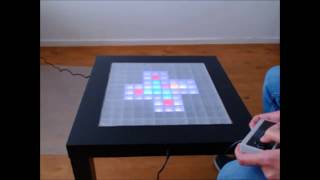 LED Table – Boxworld Tetris Snake Breakout Pong Dice Animation