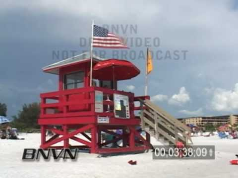7/3/2006 Sarasota, FL Siesta Beach high wind video