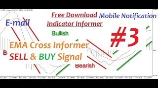 # 3 # EMA Cross BUY & SELL Signal(Email, Mobile Notification & Sound Alert)