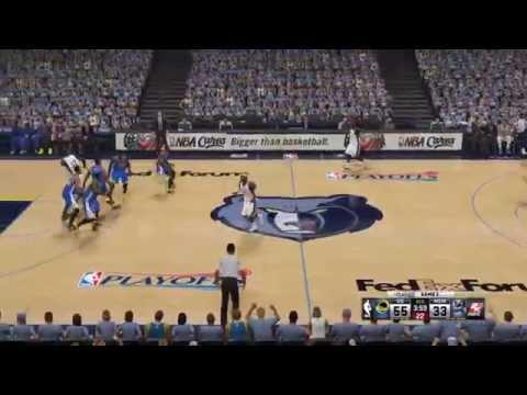 NBA Playoffs 2015 - Golden State Warriors vs Memphis Grizzlies - 4th Qrt - NBA 2K15 PS4 - HD