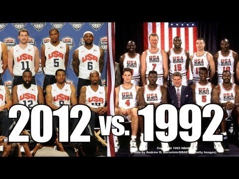 1992 Dream Team vs 2012 Dream Team! - YouTube