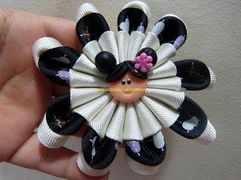 como elaborar flores combinadas para accesorios paso a paso