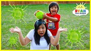 Ryan plays Nickelodeon Slime Balloon Hot Potato Game!!!