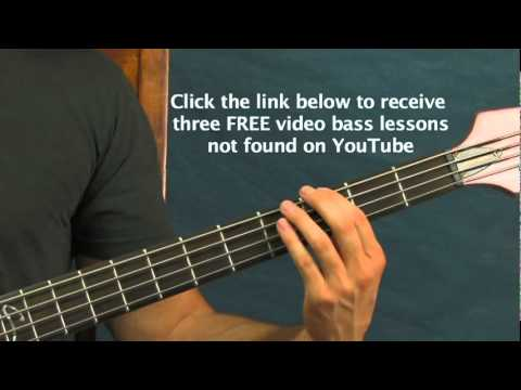 Easy Bass Guitar Lesson 5 Rock Songs For Beginners Iron Man Led Zeppelin Green Day  Sabbath video