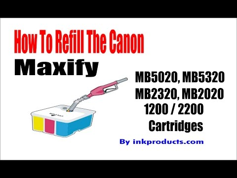 How to refill the Canon 1200 and 2200 cartridges