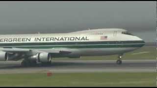 Evergreen International Airlines B747-200 landing at Centrair-Nagoya