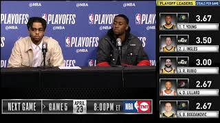 D'Angelo Russell & Caris LeVert postgame press conference | Nets vs Sixers - Game 4
