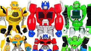 Dinosaurs are coming! Transformers Rescue Bots Optimus Prime mech armor suit! Go! - DuDuPopTOY
