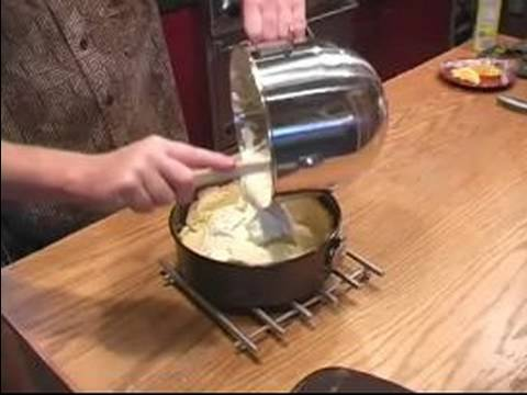 New York Cheesecake Recipe : Pouring The Filling For New York Cheesecake