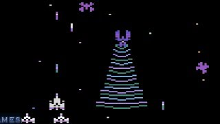 Galaga 2600 - Atari 2600 (VCS) 2019 game - Stella Gameplay - DVDfeverGames