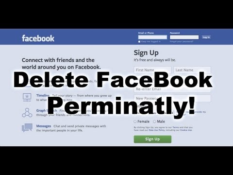 How to Delete Facebook Account Forever 2013 (Also How to Deactivate)