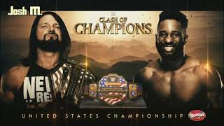 WWE Clash of Champions 2019 - AJ Styles vs Cedric Alexander Official Match Card HD