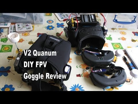 V2 Quanum DIY FPV Hobbyking Goggle review against V1. Fatshark Teleporter and Attitudes