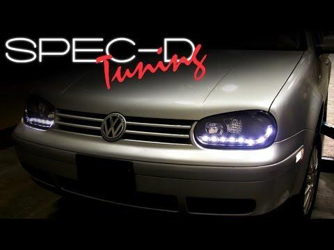 SPECDTUNING Installation Video: Volkswagen GOLF 99-05 R8 STYLE Projector Headlights