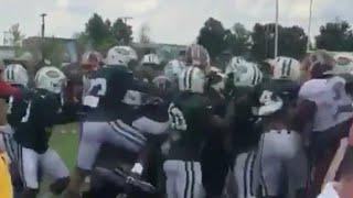 New York Jets and Washington Redskins Training Camp Fight