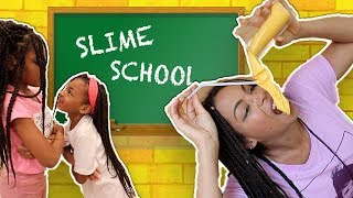 Pretend Slime Teacher vs Students! Slime School Sick Day FAIL - New Toy School
