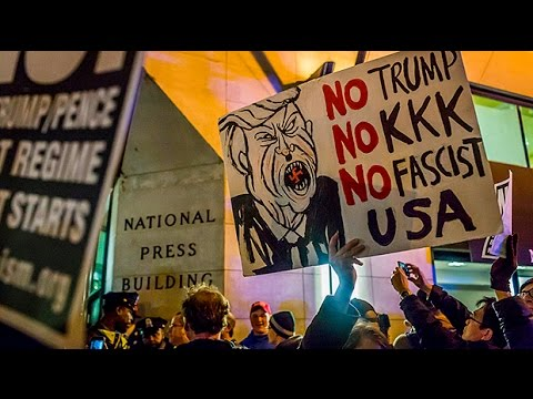 Anti-Trump protest erupts ahead of inauguration